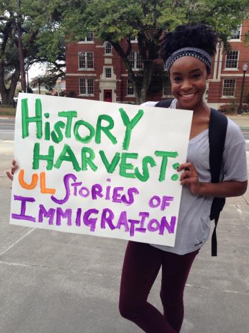 Victoria Wayne shares family history at UL History Harvest